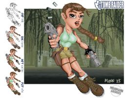 Lara Croft in Action by mojomann