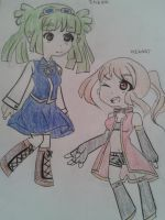 Ineen and Hikari (art trade with my cousin :D) by animelove236