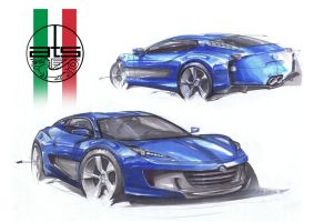 ATS 2500gt. Markers and coloured pencils by KingEagle