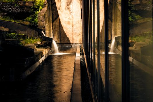 Museum Waterfall by Dracoster