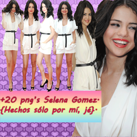 Selena Gomez png's .zip by PaoBelieberBabe