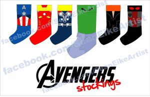 Avengers Christmas Stockings by hoganvibe