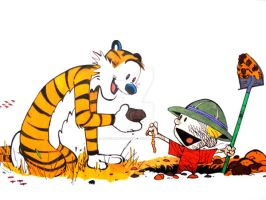 Calvin and Hobbes by JayChasez2431981