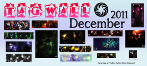 TagWall 2011 December by Spawn-Designs
