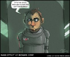 Mass Effect comic doodle by DrewGreen