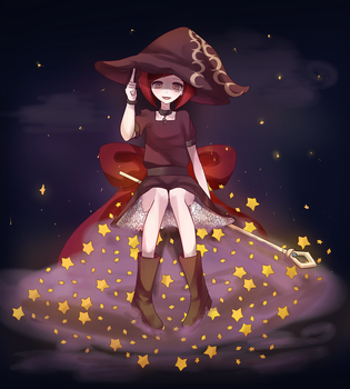 Giga Cartoon Witch Himiko by Kanmii