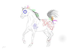 """Arabian Trot """" Indian Apaloosa by cacahuate16"""