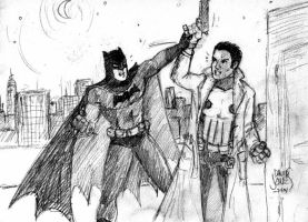 Batman and the Punisher by jbacardi