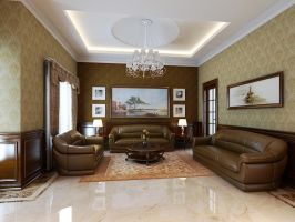 Livingroom, Graha, Medan Indonesia by CallsterShade