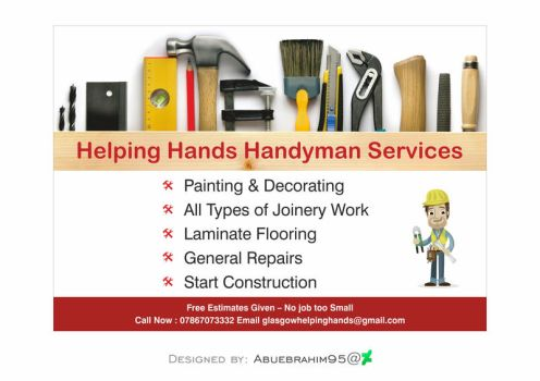 Helping Hands Handyman Services A5 by abuebrahim95