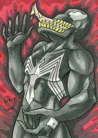 Venom Sketch Card by ibroussardart