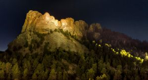 Mount Rushmore at Night by KRHPhotography