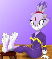 ReQuest - Blaze's Feet on Stool by DrkNite007