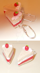 Strawberry and Cream cake Earrings by yo-yo09