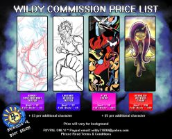 BronyCon or Bust SALE: Commission Price Listing by Wildy71090