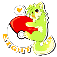 Pokeball sticker badges -open for comms for these~ by TrelDaWolf
