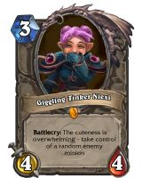 Hearthstone Card:  Giggiling Tinker Niexi by Bering