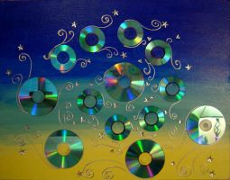 CD Spiral by peggymintun