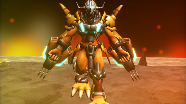 WarGreymon X (Digimon LinkZ) by GuilTronPrime