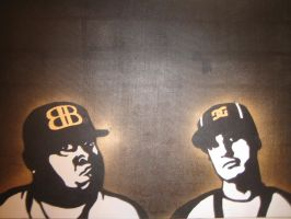 rob and big stencil on canvas by wakingkillsthedream8