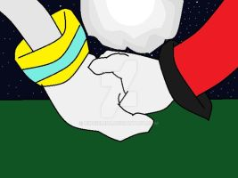 silvgold hand holding by DiBgIrL100