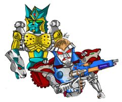 Rattrap and Cheetor by AuntyRichie