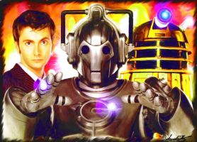 Doctor Who Daleks and Cybermen by darkcornerpoet