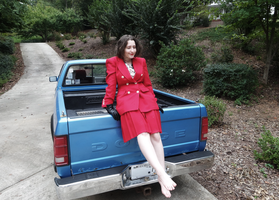 Red Suit Outdoors III by Atlantagirl