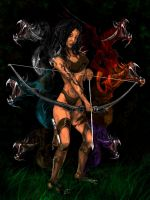 THE DRAGON BOW HUNTRESS by Rjrazar1