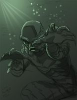 Creature from the Black Lagoon by genekelly