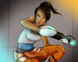 Portal: Chell by SylentNyte