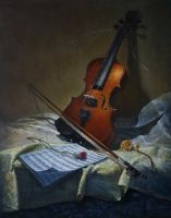 The violin by marcheba
