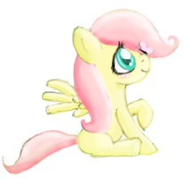 Filly Fluttershy by littlehappypanda