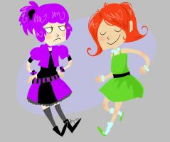 Violet And Dora by Thystle