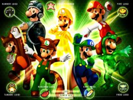 Luigi-clasic Power ups by xXLightsourceXx