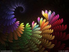 Rainbow Fern by psion005