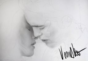 Edward and Bella WIP 1 by verkoka