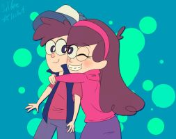 Dipper and Mabel Pines by SilberSternenlicht