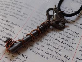 Steampunk key necklace by Hiddendemon-666