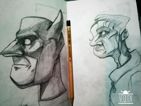 sketches by Vequin