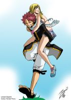 Fairy tail nalu take what's yours -colour-. by Honda-Thoru