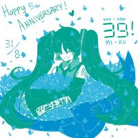 HAPPY 5TH ANNIVERSARY MIKU! by Koharu-Rin
