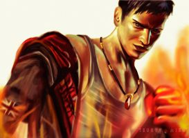 DMC Dante is on Fire by Tsukuyomi22