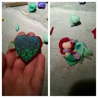 WIP: Swimming Ariel Pendant by LizaByte