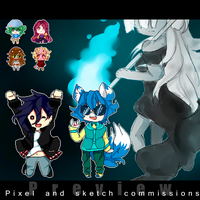 Commission Batch(again!) by Aoi-chan01