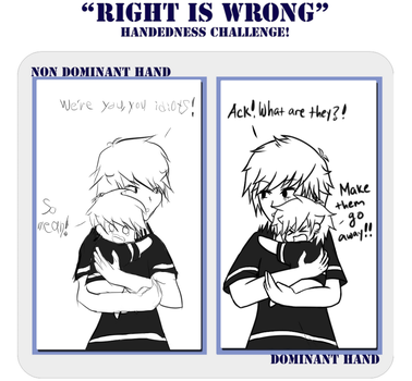 Right is Wrong Handedness challenge by toby20
