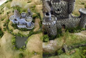 Clay Castle and Diorama by KorieLove