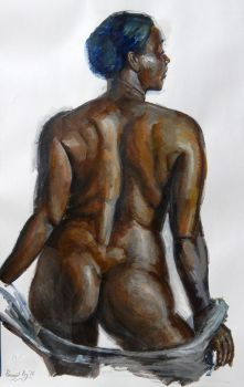 Another study of the human back, acrylic by roy-p