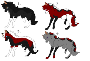 Male Wolf Breedables by Chishikon