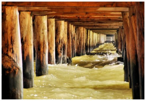 under the pier by Wilithin